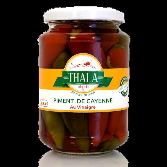 Piments de Cayenne au vinaigre 350g Thala®
