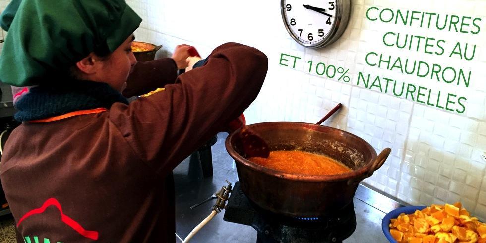 Des confitures cuites au chaudron et 100% naturelles
