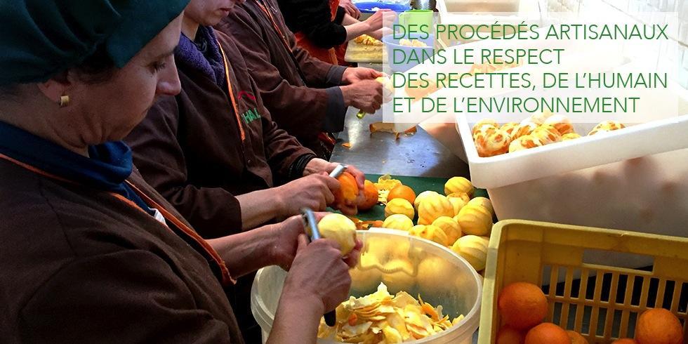 Des procédés artisanaux dans le respect des recettes de l'humain et de l'environnement